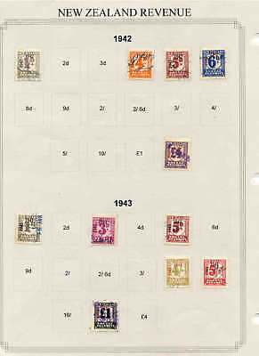 NEW ZEALAND SOCIAL SECURITY COLLECTION LOT 1942-1943 99c NO RESERVE