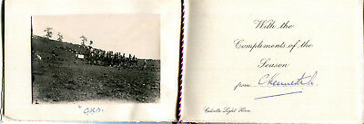 1914 Calcutta Light Horse Regiment greetings card and photograph of a patrol