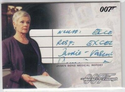 James Bond Medical Report Screen Used 007  Rittenhouse Relic Card Rc2 ! Twine