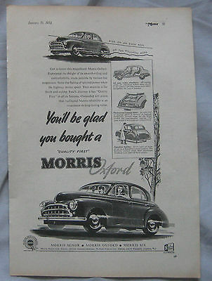1953 Morris Oxford Original advert No.2