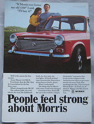1968 Morris 1100 MkII Original advert