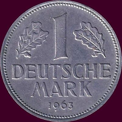"""1963 """"G"""" Germany 1 Mark Coin"""