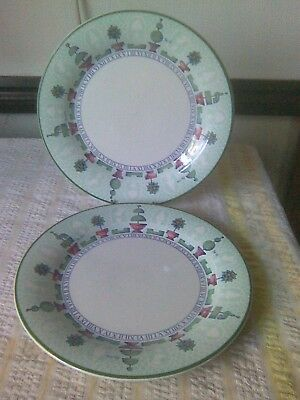 2 Staffordshire Tableware Topiary Dinner Plates