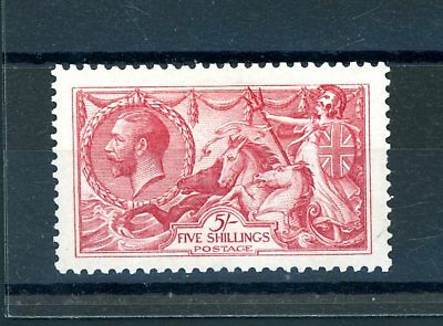 Great Britain  1913 Waterlow  5s Seahorse  (SG 401)  L.H.M.  (O1299)