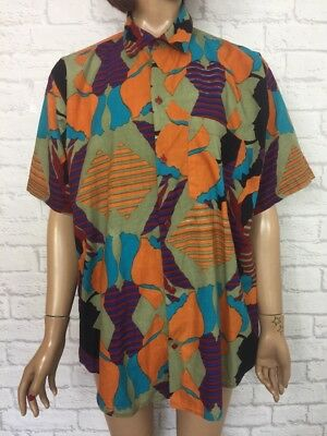 ❤️ Vintage 90's UNISEX Bold Bright Abstract Oversize Festival Blogger Shirt