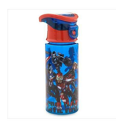 Disney Captain America Small Water Bottle With Spill Proof Lid and Carry Handle