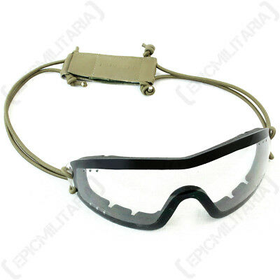 Swiss Eye 'Infantry' Goggles - Clear - Safety Glasses Airsoft Army Military New
