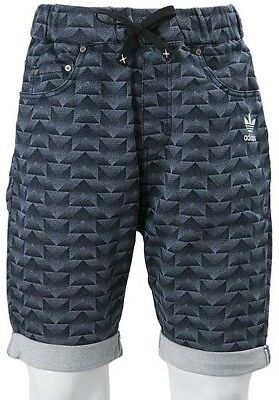 adidas French Terry Denim Mens Shorts - Blue