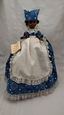 "Vintage Original Gambina Doll ""toaster Cover"" Decoration #501-Black Girl-Paisley"