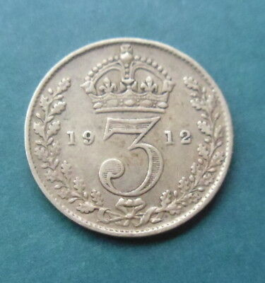 George V 1912 Silver Threepence Coin