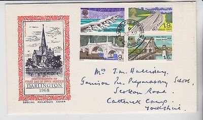 Gb Stamps First Day Cover 1968 Bridges Darlington Special Rares Collection