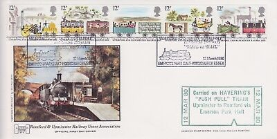 Gb Stamps First Day Cover 1980 Railway Trains Havering Official Rares Collection