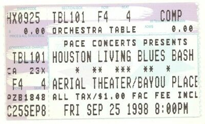 Big Walter Joe Hughes Texas Johnny Brown 9/25/98 Houston Blues Ticket Stub!