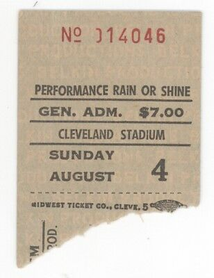 RARE Emerson Lake and Palmer 8/4/74 Cleveland Stadium Ticket Stub! & ELP