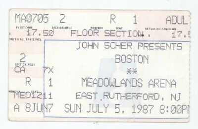 Boston the band 7/5/87 E Rutherford NJ Meadowlands Arena Concert Ticket Stub!