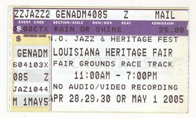 BB King Elvis Costello Dave Matthews 2005 New Orleans Jazzfest Ticket Stub!