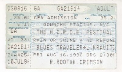 Blues Traveler Lenny Kravitz King Crimson 8/16/96 HORDE Festival Ticket Stub!