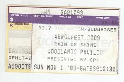 Jefferson Starship Foghat War BOC Foreigner Doobie Brothers 11/1/09 Ticket Stub!