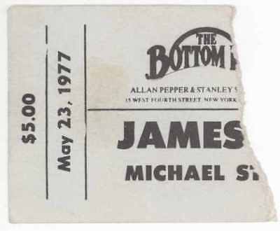 James Cotton Michael Stanley Band 5/23/77 NYC Bottom Line Ticket Stub! MSB
