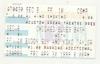 RARE Buddy Guy Koko Taylor 4/30/99 Houston TX Arena Theatre Concert Ticket Stub!
