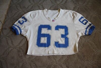 1991-92 Detroit Lions game used jersey shortened for use in practice