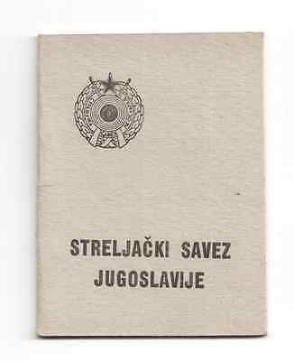 Yugoslav Shooting Federation Members Card -Streljastvo