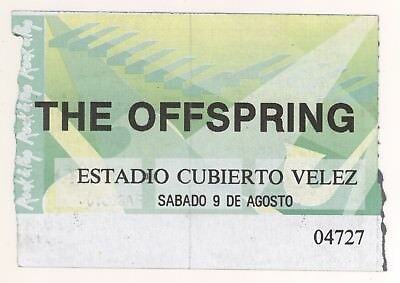Rare THE OFFSPRING 8/9/97 Buenos Aires Argentina Concert Ticket Stub!