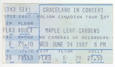 Paul Simon 6/24/87 Toronto Canada MLG Concert Ticket Stub! & And Garfunkel