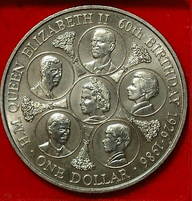 Cook Islands Dollar $1 Crown 1986 KM#31 (Tray 109)