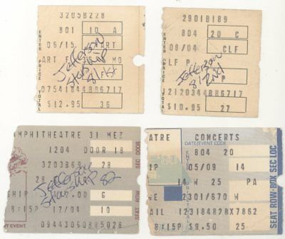 4 Jefferson Starship Concert Ticket Stub s! Airplane 8/1/81, 8/4/81 x2, 12/4/82