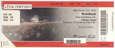 Rare NICKELBACK 7/25/09 Mansfield MA BIG Live Nation Concert Ticket! Boston