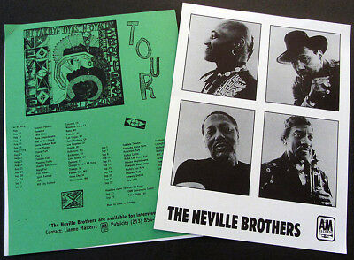 RARE Neville Brothers All My Relations Press Kit! I66
