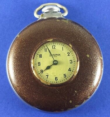 "Vintage E. Ingraham Pocket Watch ""Demi Hunter"" Bristol Conn. 50 mm Diameter"