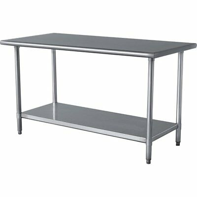 Heavy Duty Stainless Steel Prep Work Table 18 x 48 NSF APPROVED WT1848