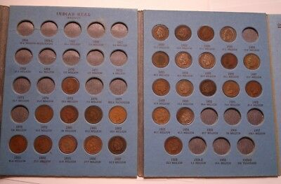 27 piece Set Collection of INDIAN HEAD CENTS 1875 - 1908 in Whitman Folder