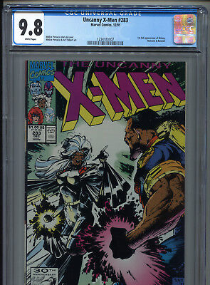 1991 Marvel Uncanny X-Men #283 1St Full Appearance Bishop Cgc 9.8 White Pages A