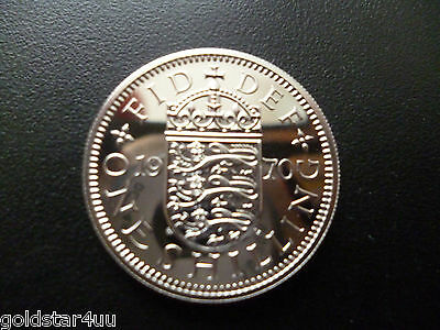 Proof QE11 1970 Shilling (English) Only Struck in Proof Condition ,Low Mintage