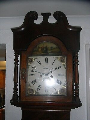 19th Century 8-Day Grandfather / Longcase Clock / Nice Case & Dial