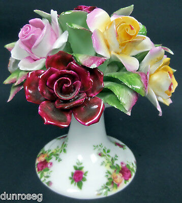 OLD COUNTRY ROSES FLORAL TABLE DECORATION, 1st QLTY, GC, 1973-93, ROYAL ALBERT