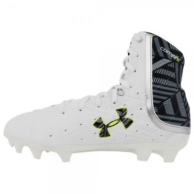 NEW Womens Under Armour Highlight II MC Lacrosse Cleats White / Black Size 10 M