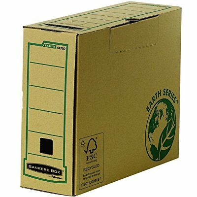 20xFellowes BANKERS BOX EARTH Archiv-Schachtel Ordnerkiste Archivbox B100mm