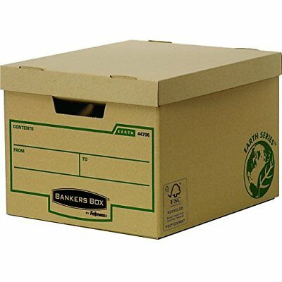 #10xFellowes BANKERS BOX EARTH Archiv-/Transportbox Standard