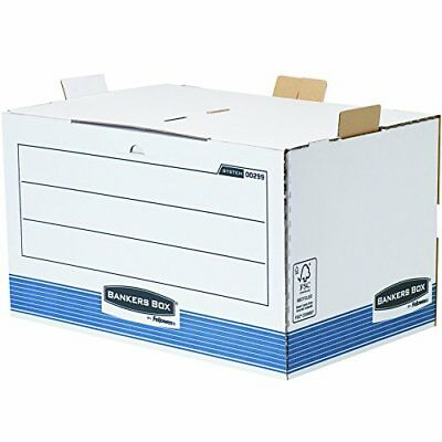 #5xFellowes BANKERS BOX SYSTEM Archiv-Container, blau