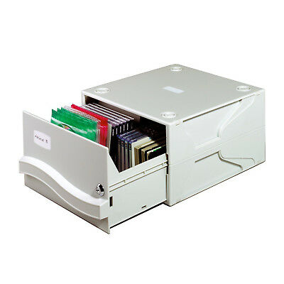 DURABLE Multimedia-Box Archivsystem 53 CD´s/DVD´s 8 Trennplatten Schluss grau