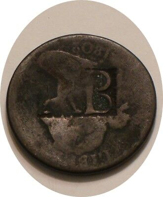 1802 Draped Bust Large Cent counter stamped LION B original