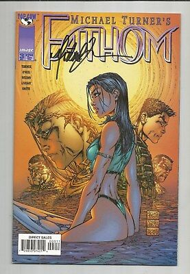 FATHOM OCTOBER 1998 No.3 SIGNED BY MICHAEL TURNER W/COA (NM-MT!!)