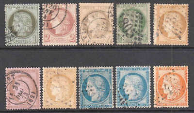FRANCE 50-59 CANCELS SET $196 SCV 99c NO RESERVE