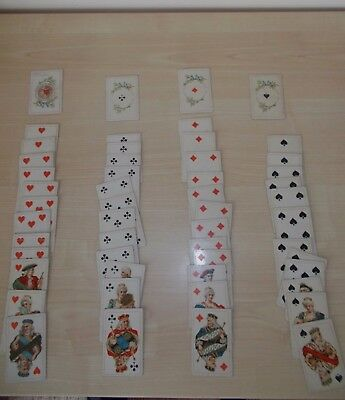 Complete small set of Antique Italian Playing Cards. 1897.