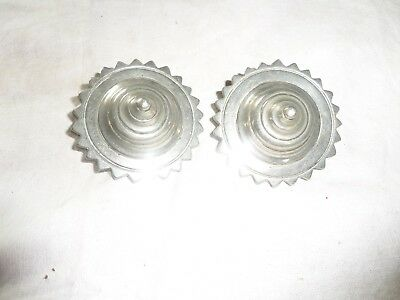Pair Of Harness Rosettes White Metal Used Condition