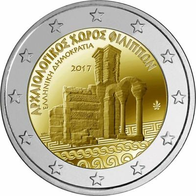 Greece, Greek coins 2017, Archaeological Site of Philippi, 2 euro, UNC